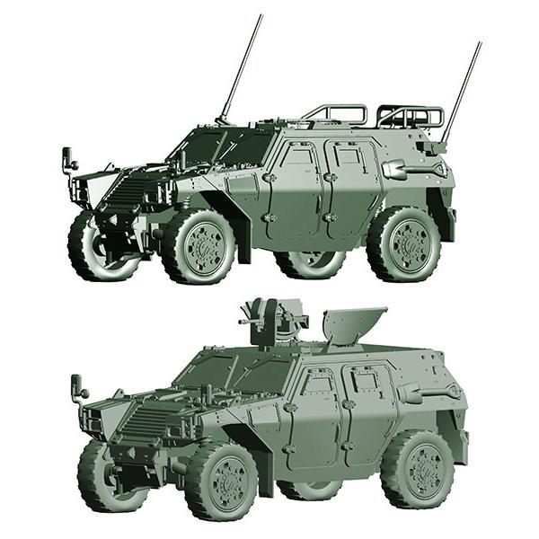 1/72 ミリタリーシリーズ No.18『陸上自衛隊 軽装甲機動車(中隊長車/機関銃搭載車)』プラモデル
