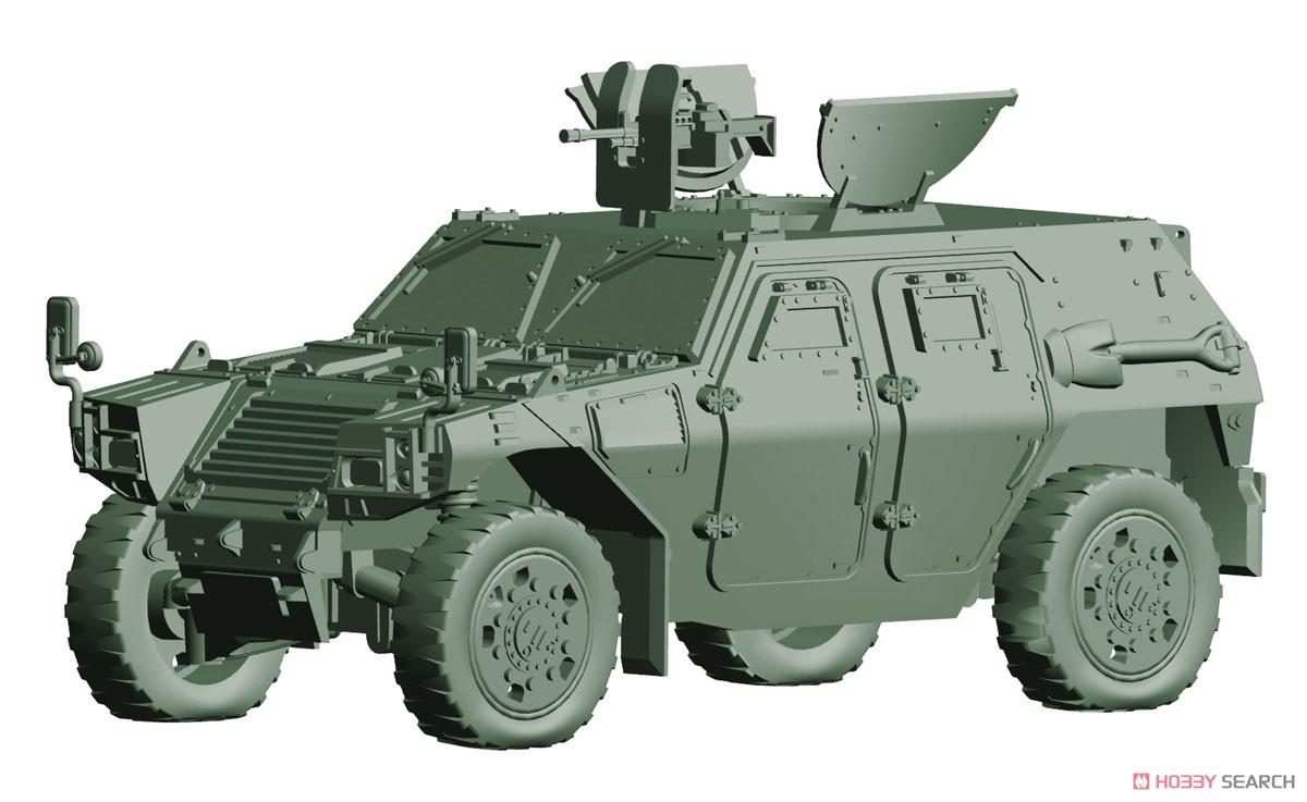 1/72 ミリタリーシリーズ No.18『陸上自衛隊 軽装甲機動車(中隊長車/機関銃搭載車)』プラモデル-002