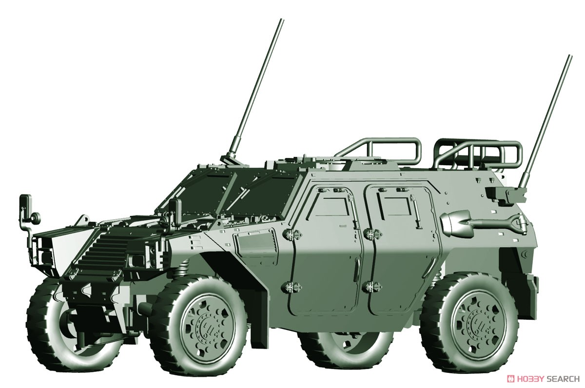 1/72 ミリタリーシリーズ No.18『陸上自衛隊 軽装甲機動車(中隊長車/機関銃搭載車)』プラモデル-003