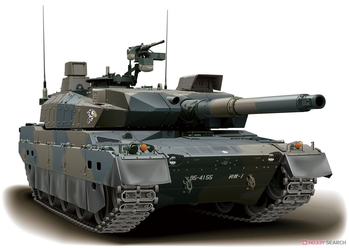 1/72 ミリタリーシリーズ No.10『陸上自衛隊 10式戦車 2両セット』プラモデル-002