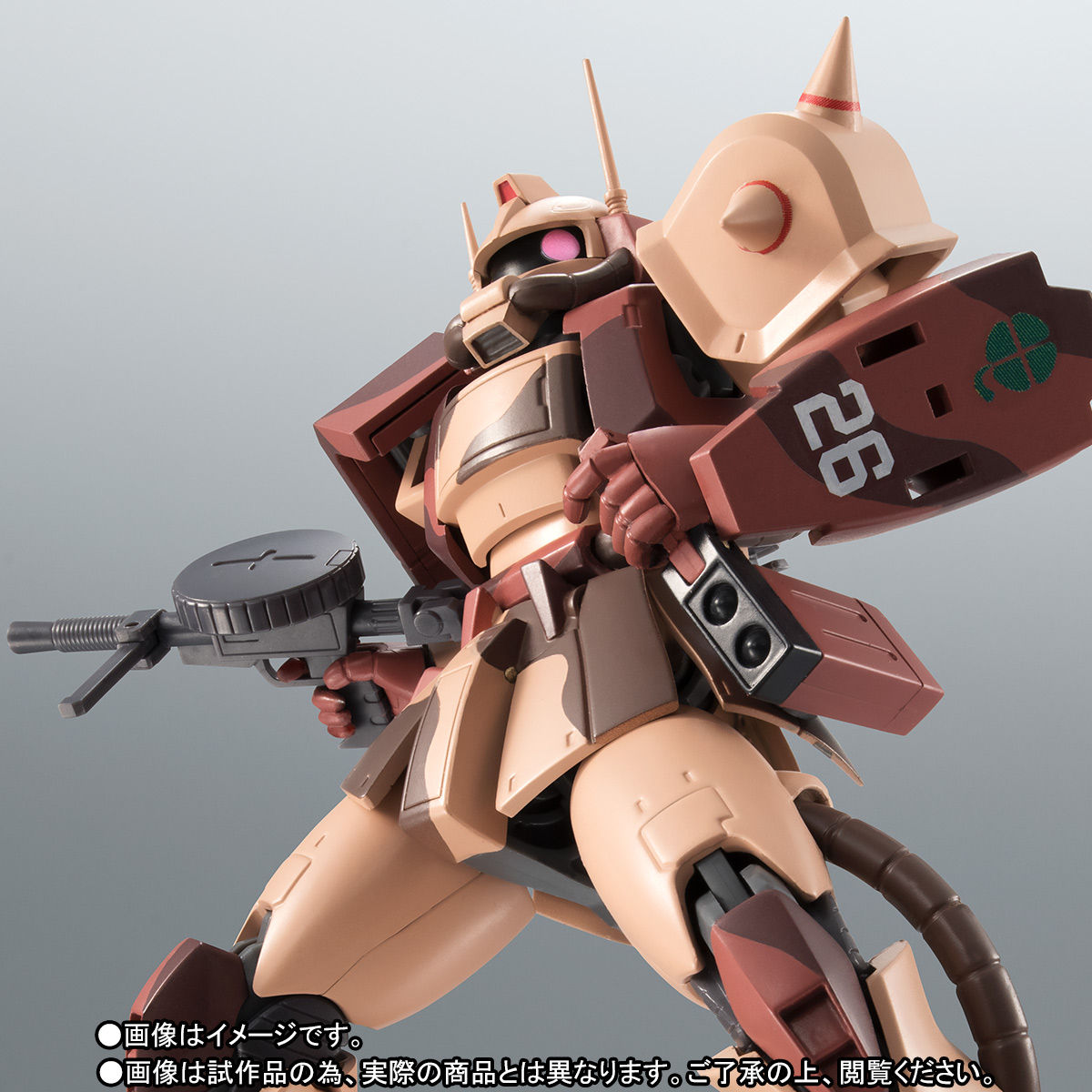 ROBOT魂〈SIDE MS〉『MS-06D ザク・デザートタイプ カラカル隊所属機』ガンダム モビルスーツバリエーション(MSV)可動フィギュア-001