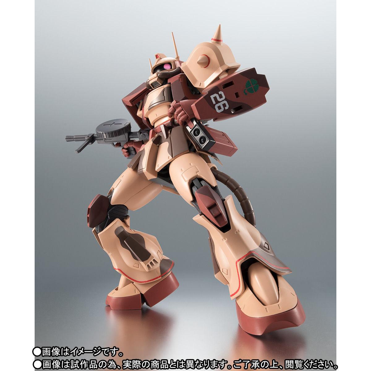 ROBOT魂〈SIDE MS〉『MS-06D ザク・デザートタイプ カラカル隊所属機』ガンダム モビルスーツバリエーション(MSV)可動フィギュア-002