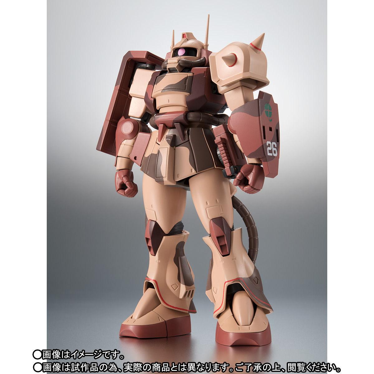 ROBOT魂〈SIDE MS〉『MS-06D ザク・デザートタイプ カラカル隊所属機』ガンダム モビルスーツバリエーション(MSV)可動フィギュア-003