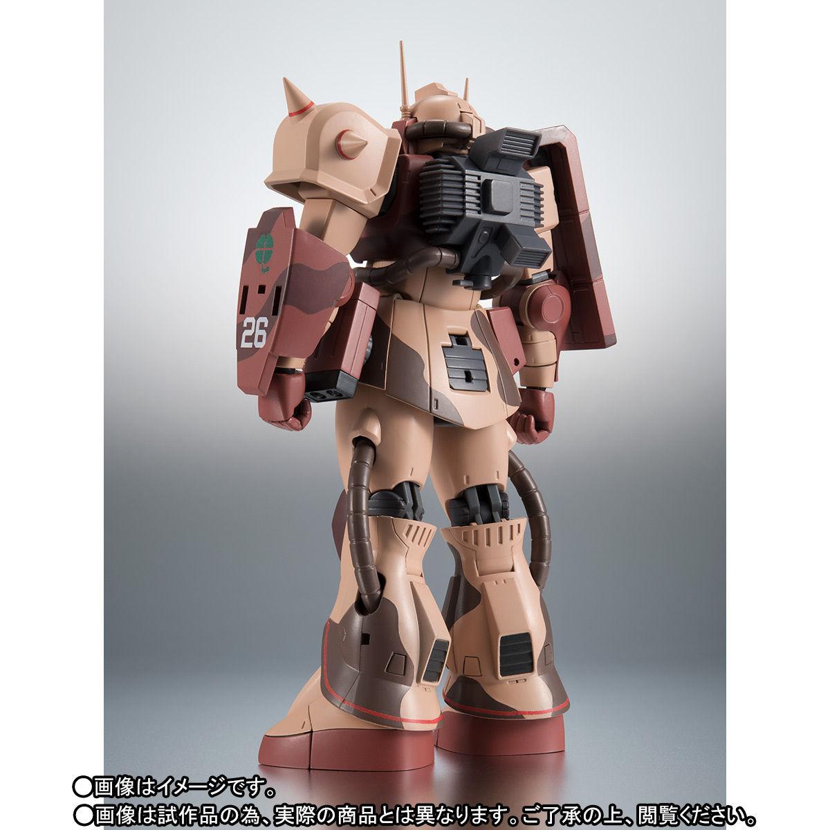 ROBOT魂〈SIDE MS〉『MS-06D ザク・デザートタイプ カラカル隊所属機』ガンダム モビルスーツバリエーション(MSV)可動フィギュア-004