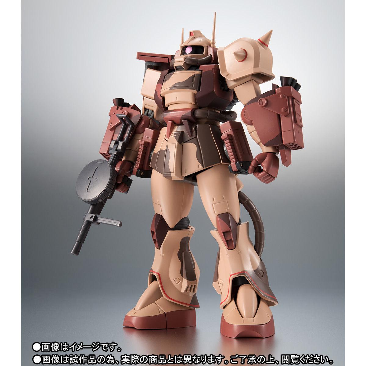ROBOT魂〈SIDE MS〉『MS-06D ザク・デザートタイプ カラカル隊所属機』ガンダム モビルスーツバリエーション(MSV)可動フィギュア-005