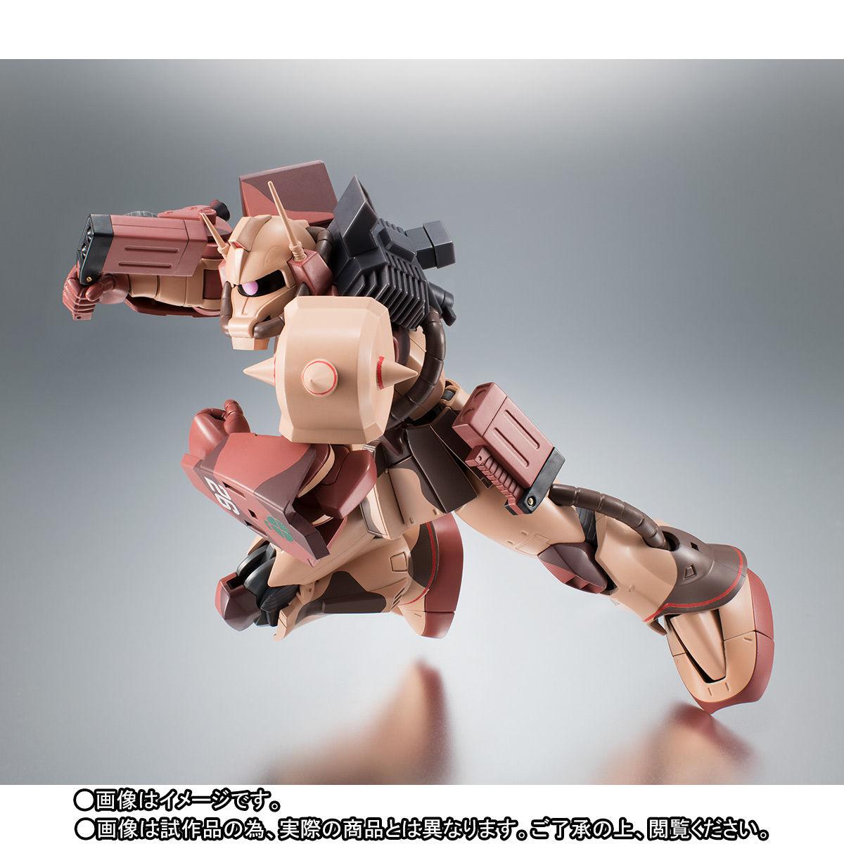 ROBOT魂〈SIDE MS〉『MS-06D ザク・デザートタイプ カラカル隊所属機』ガンダム モビルスーツバリエーション(MSV)可動フィギュア-006