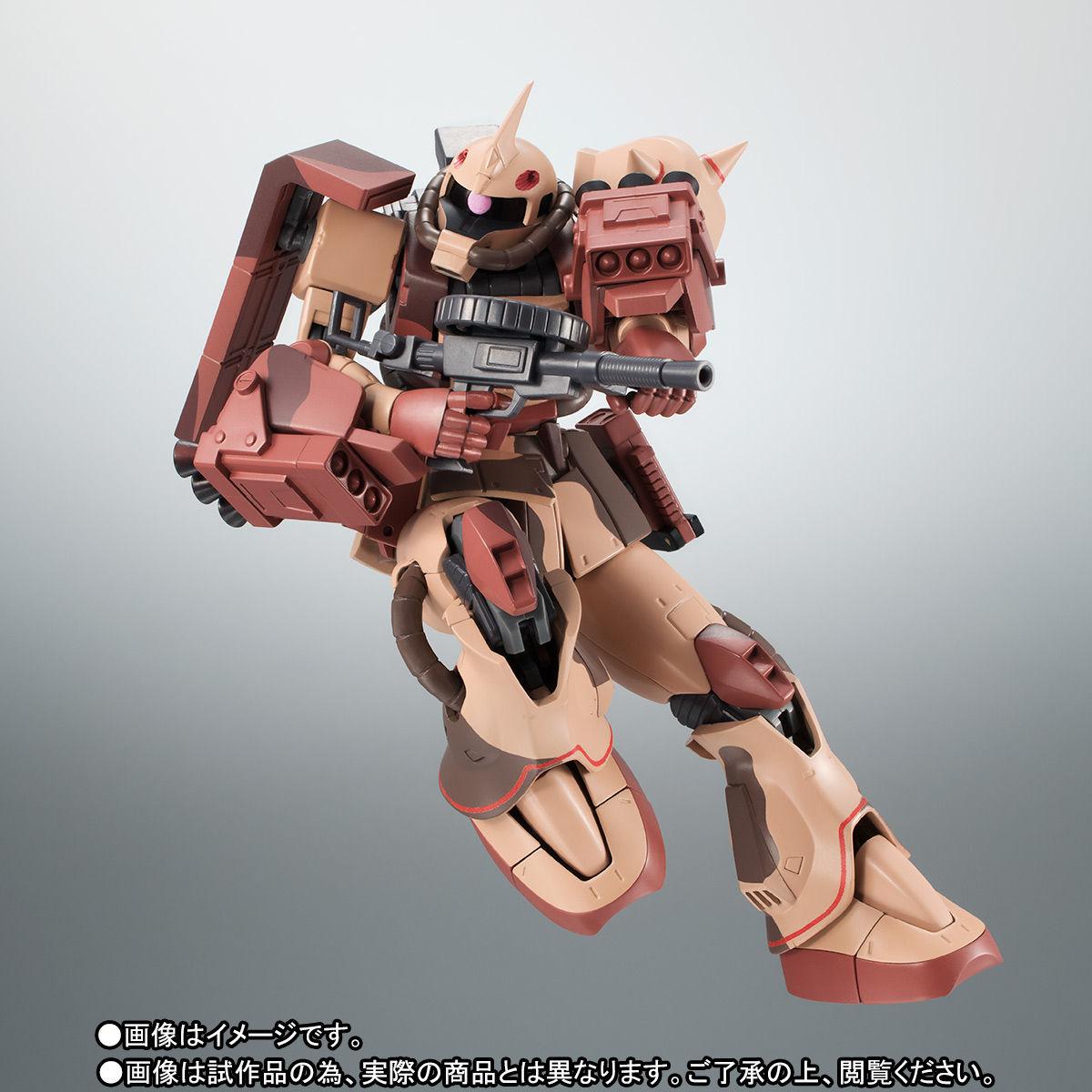 ROBOT魂〈SIDE MS〉『MS-06D ザク・デザートタイプ カラカル隊所属機』ガンダム モビルスーツバリエーション(MSV)可動フィギュア-007