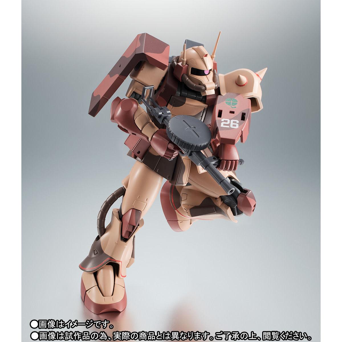 ROBOT魂〈SIDE MS〉『MS-06D ザク・デザートタイプ カラカル隊所属機』ガンダム モビルスーツバリエーション(MSV)可動フィギュア-008