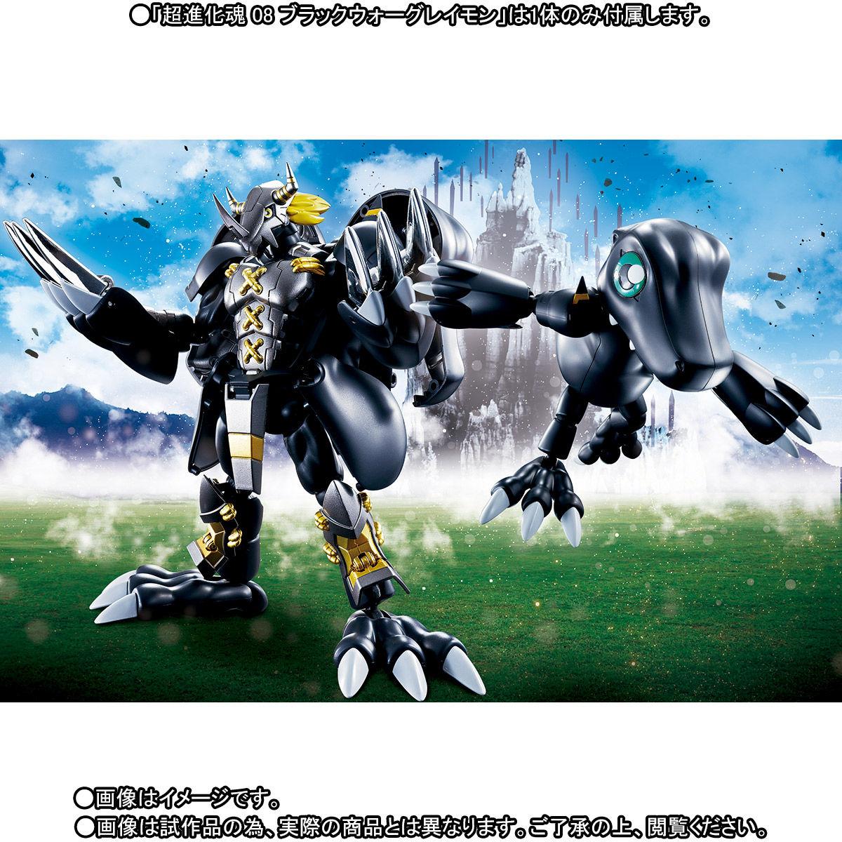 超進化魂 08『ブラックウォーグレイモン』デジモンアドベンチャー 可変可動フィギュア-010