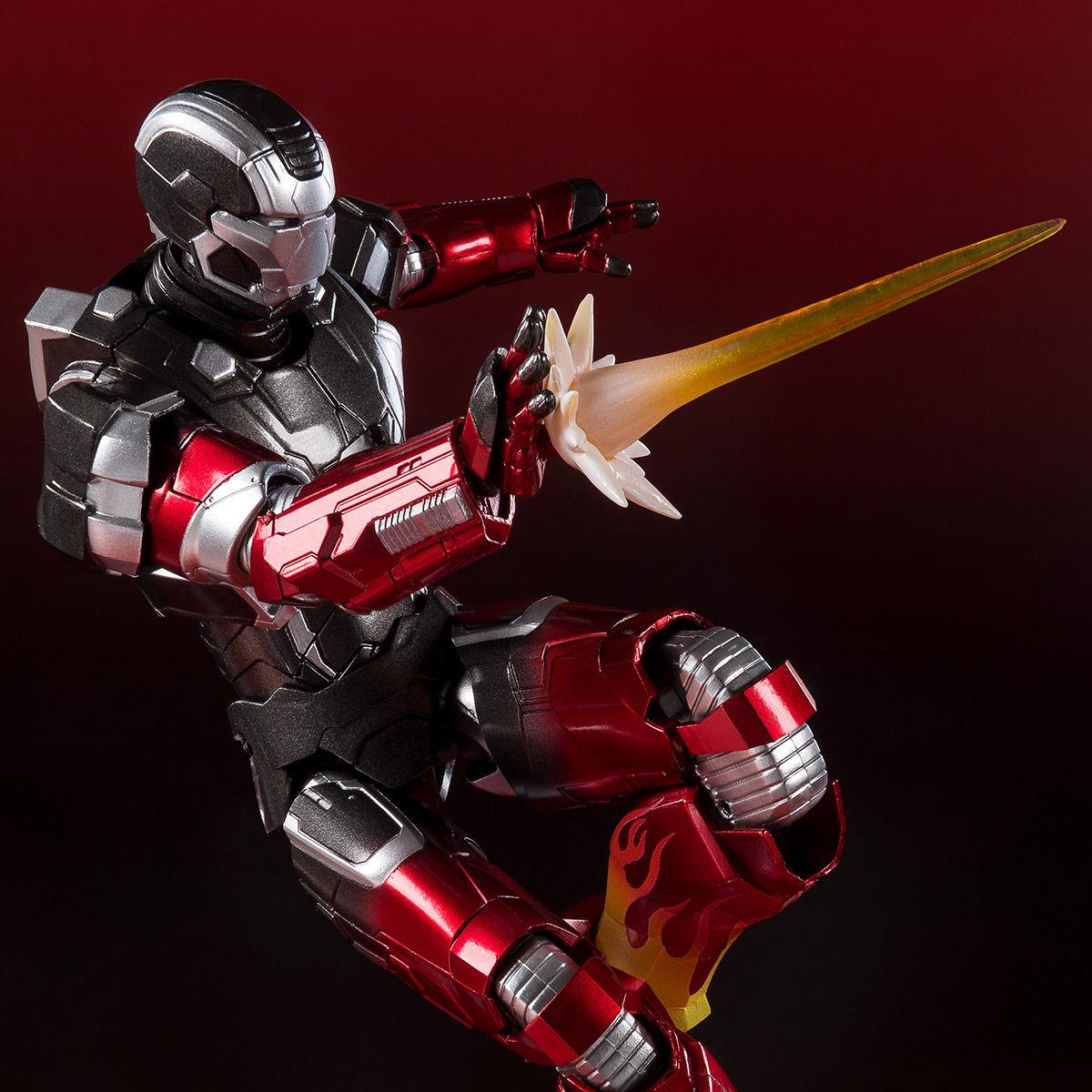 S.H.フィギュアーツ『アイアンマン マーク22 ホットロッド』アイアンマン3 可動フィギュア-001