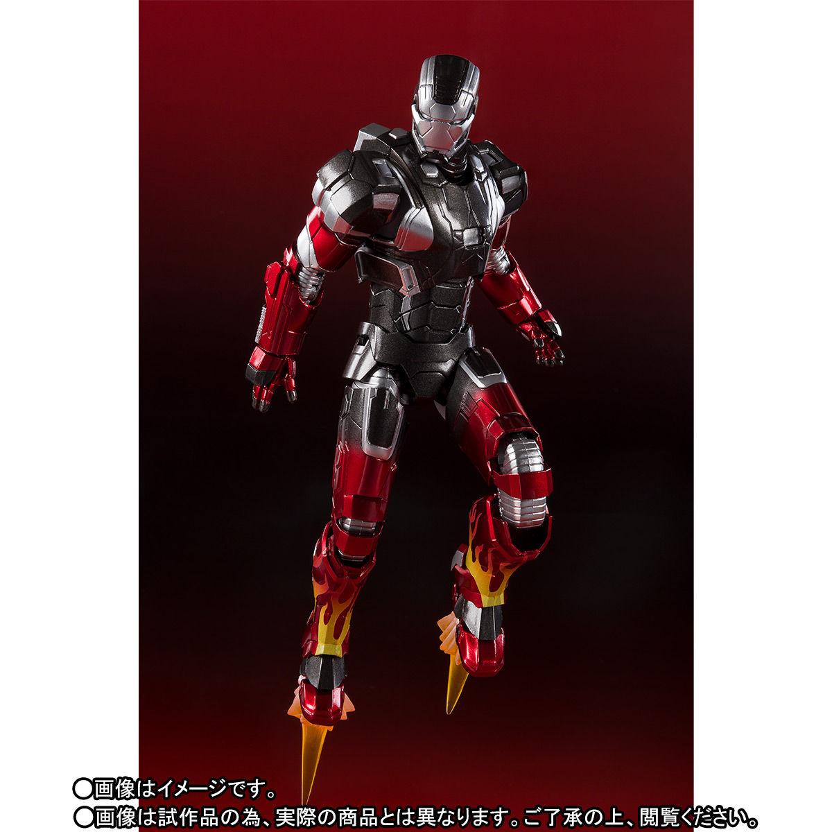 S.H.フィギュアーツ『アイアンマン マーク22 ホットロッド』アイアンマン3 可動フィギュア-003