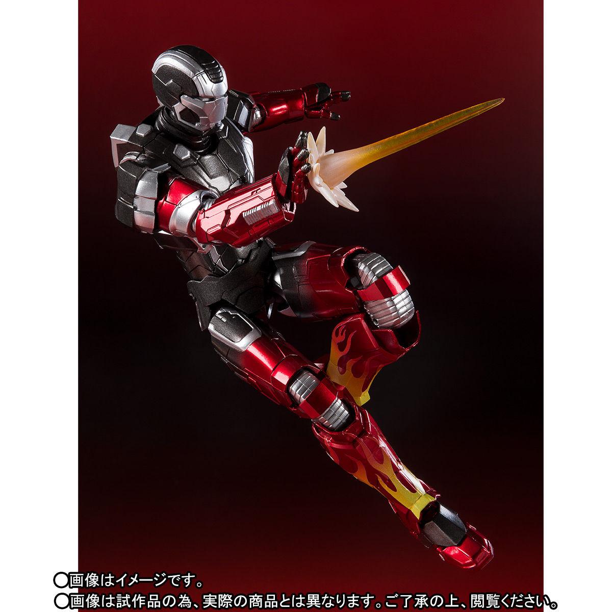 S.H.フィギュアーツ『アイアンマン マーク22 ホットロッド』アイアンマン3 可動フィギュア-006