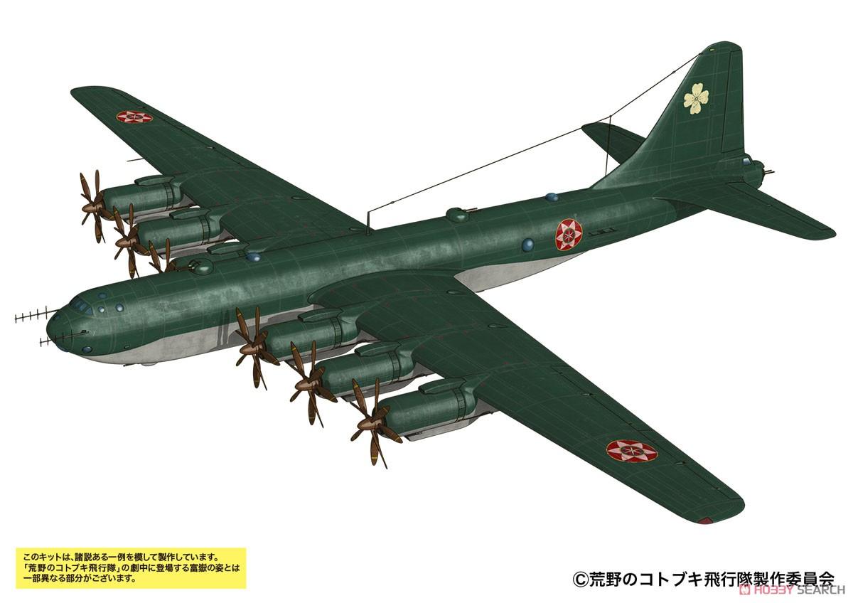 荒野のコトブキ飛行隊『富嶽 イケスカ所属機 仕様』1/48 プラモデル-001