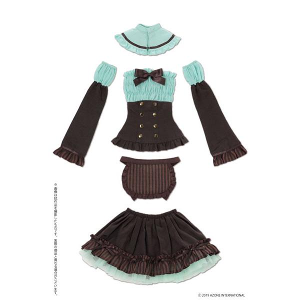 48cm/50cm用 AZO2『ショコラなメイドさんセット チョコミント』1/3 ドール服