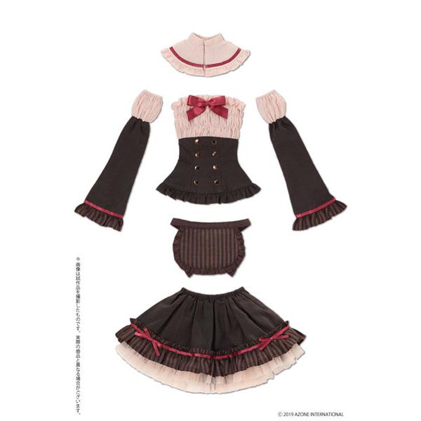 48cm/50cm用 AZO2『ショコラなメイドさんセット ストロベリーチョコ』1/3 ドール服