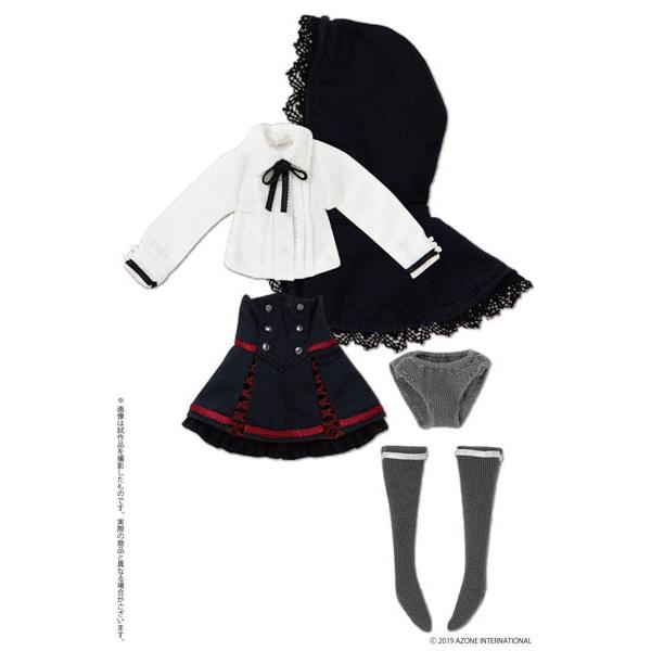 ピコニーモサイズ コスチューム『Kateryna ドレスセット ホワイト×ネイビー』1/12 ドール服