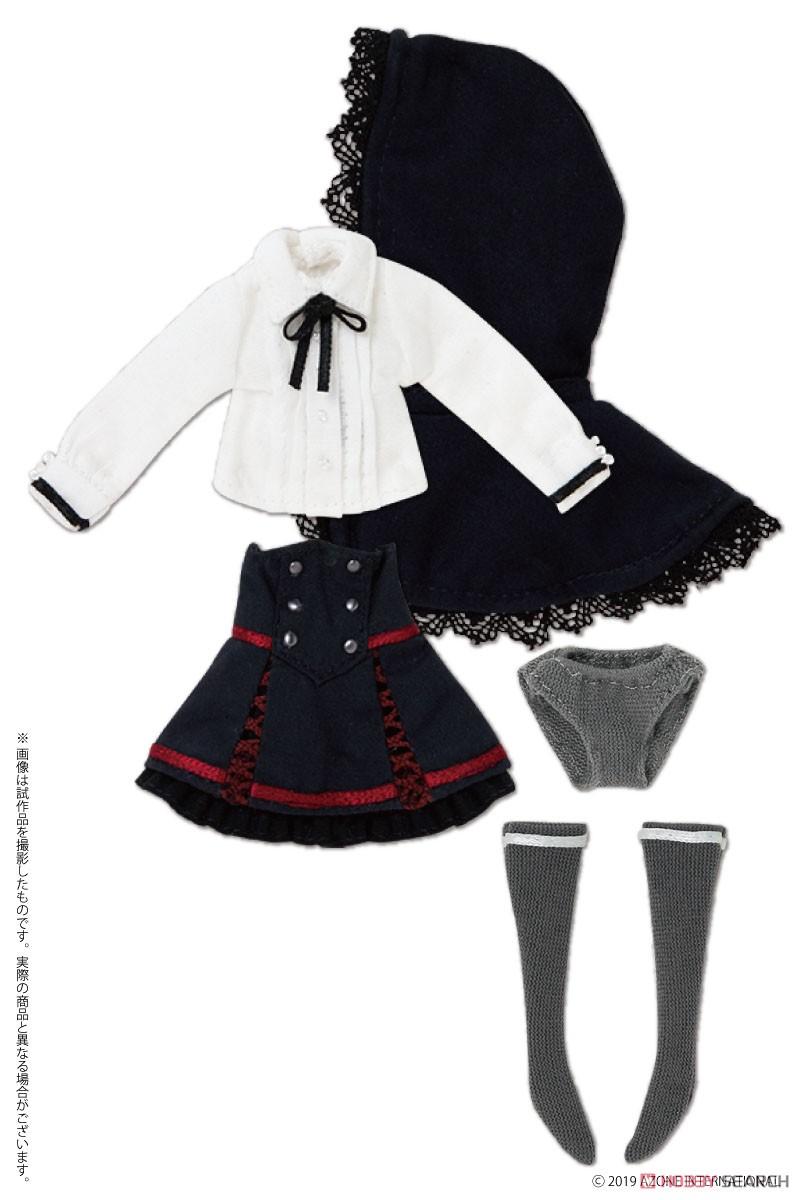 ピコニーモサイズ コスチューム『Kateryna ドレスセット ホワイト×ネイビー』1/12 ドール服-001