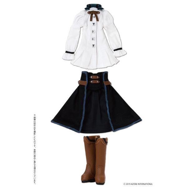 ピコニーモサイズ コスチューム『シェイラ/Sheila ドレスセット ブルー×ブラック』1/12 ドール服