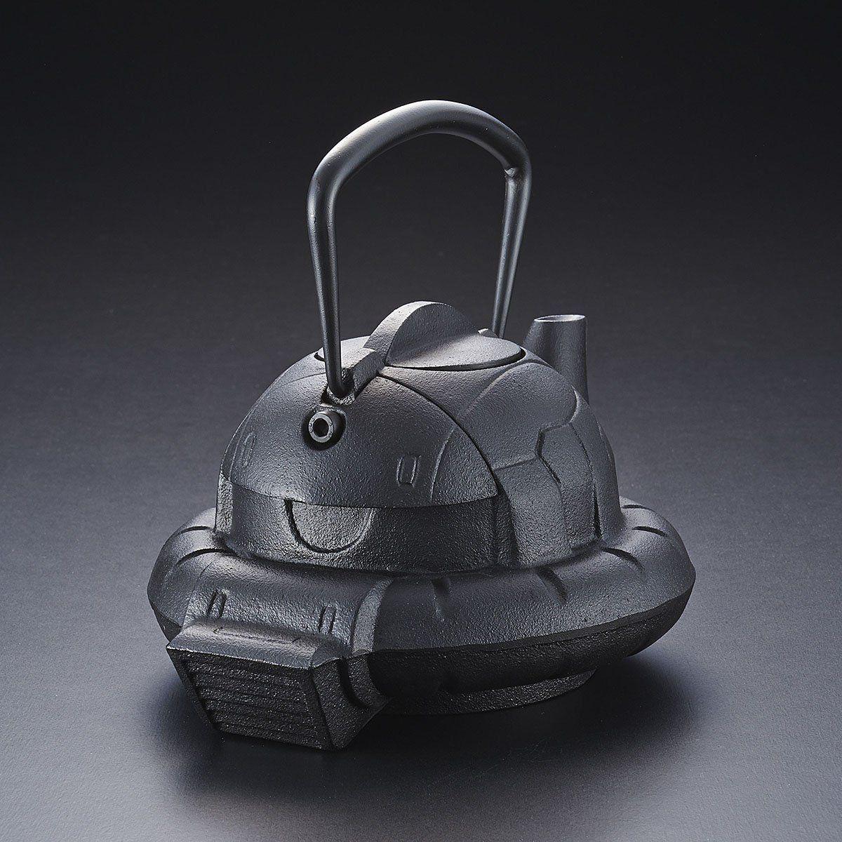 ガンダムカフェ『南部鉄器 鉄瓶 ZAKU』-001