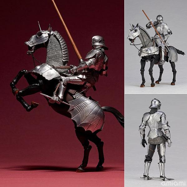 KT Project KT-027 タケヤ式自在置物『15世紀ゴチック式エクエストリアンアーマー シルバー』可動フィギュア
