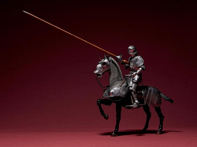KT Project KT-027 タケヤ式自在置物『15世紀ゴチック式エクエストリアンアーマー シルバー』可動フィギュア-002