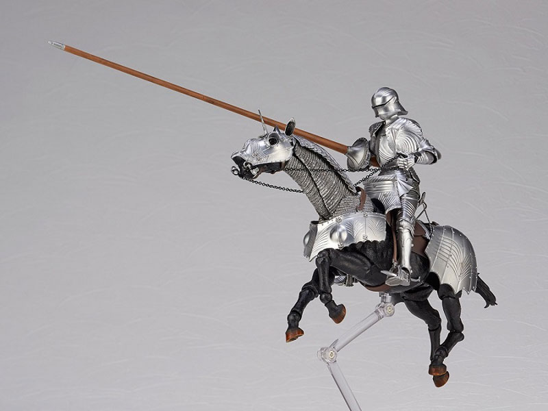 KT Project KT-027 タケヤ式自在置物『15世紀ゴチック式エクエストリアンアーマー シルバー』可動フィギュア-006