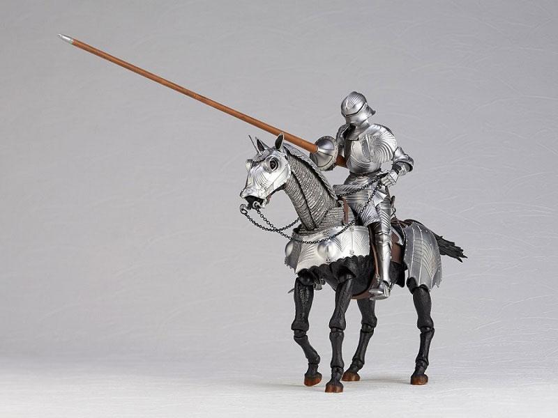 KT Project KT-027 タケヤ式自在置物『15世紀ゴチック式エクエストリアンアーマー シルバー』可動フィギュア-007