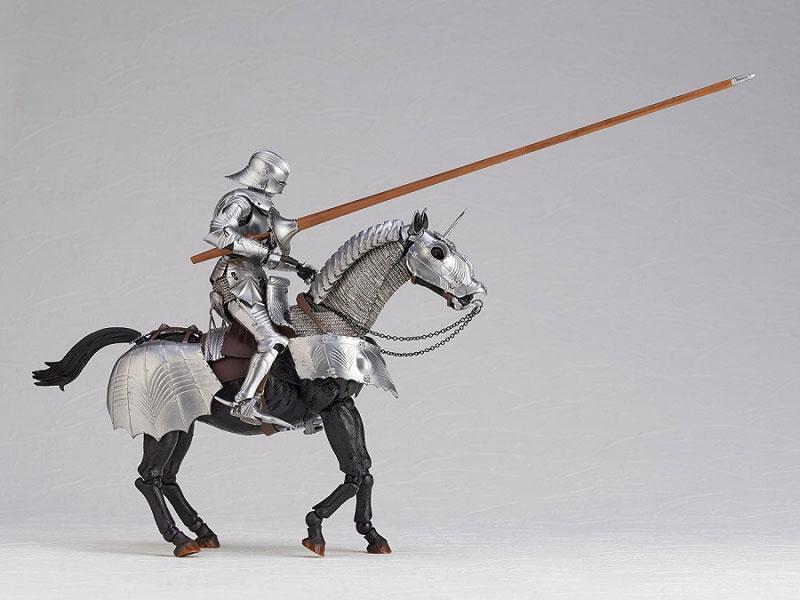 KT Project KT-027 タケヤ式自在置物『15世紀ゴチック式エクエストリアンアーマー シルバー』可動フィギュア-008