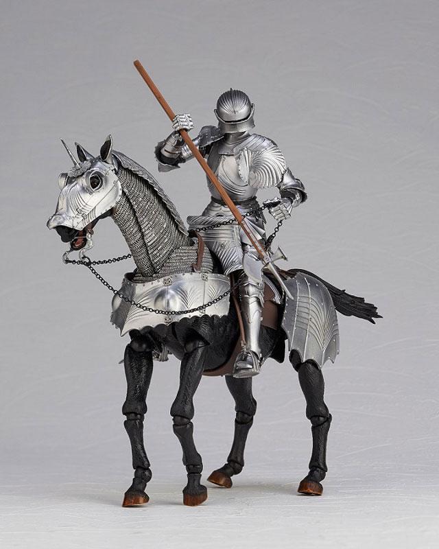 KT Project KT-027 タケヤ式自在置物『15世紀ゴチック式エクエストリアンアーマー シルバー』可動フィギュア-009