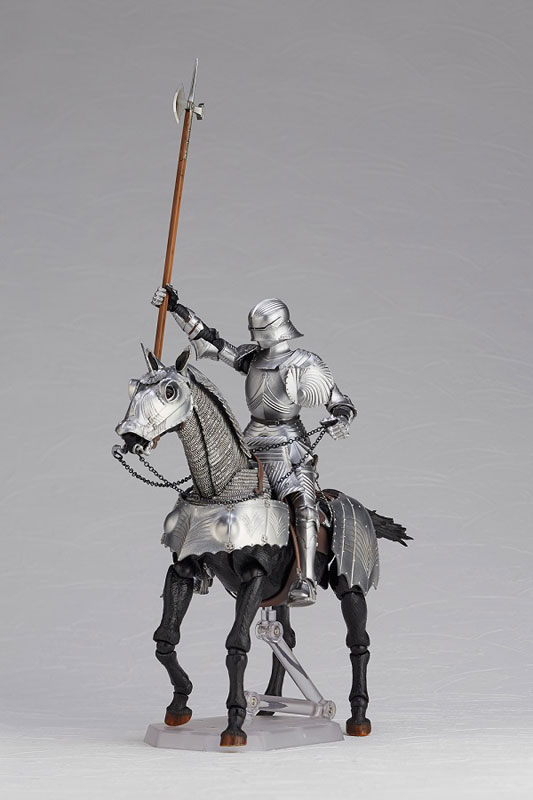 KT Project KT-027 タケヤ式自在置物『15世紀ゴチック式エクエストリアンアーマー シルバー』可動フィギュア-010