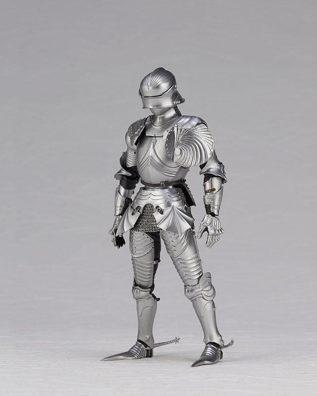 KT Project KT-027 タケヤ式自在置物『15世紀ゴチック式エクエストリアンアーマー シルバー』可動フィギュア-013