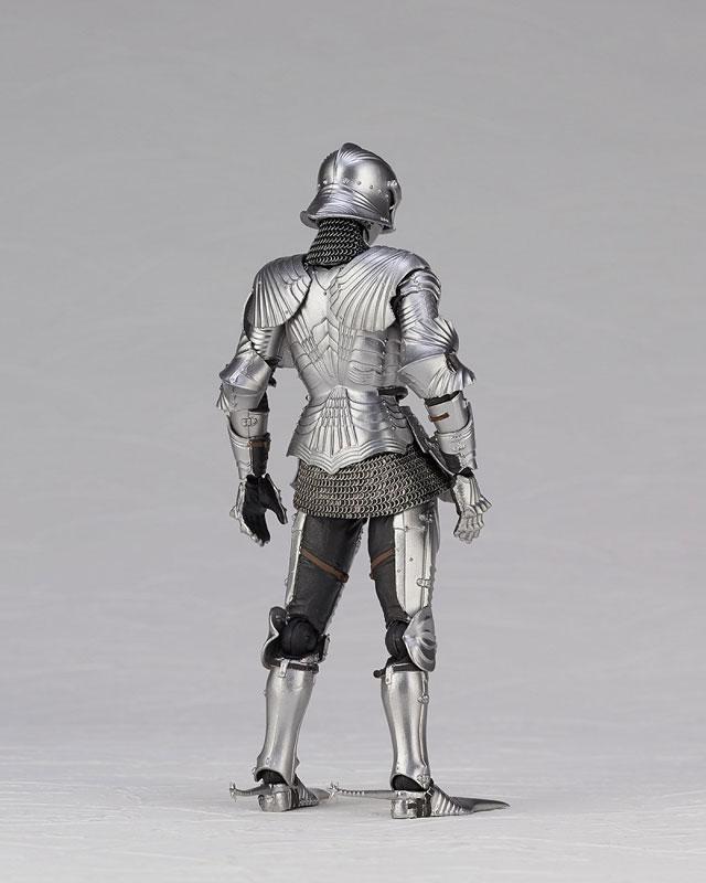 KT Project KT-027 タケヤ式自在置物『15世紀ゴチック式エクエストリアンアーマー シルバー』可動フィギュア-014