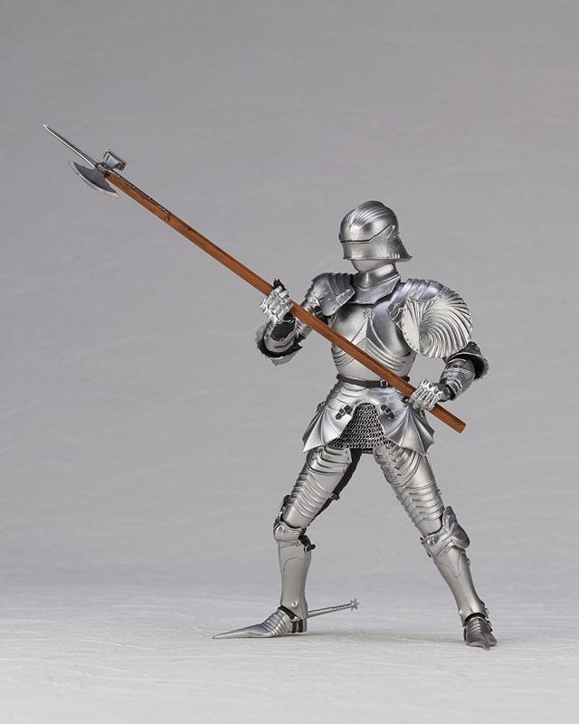 KT Project KT-027 タケヤ式自在置物『15世紀ゴチック式エクエストリアンアーマー シルバー』可動フィギュア-015
