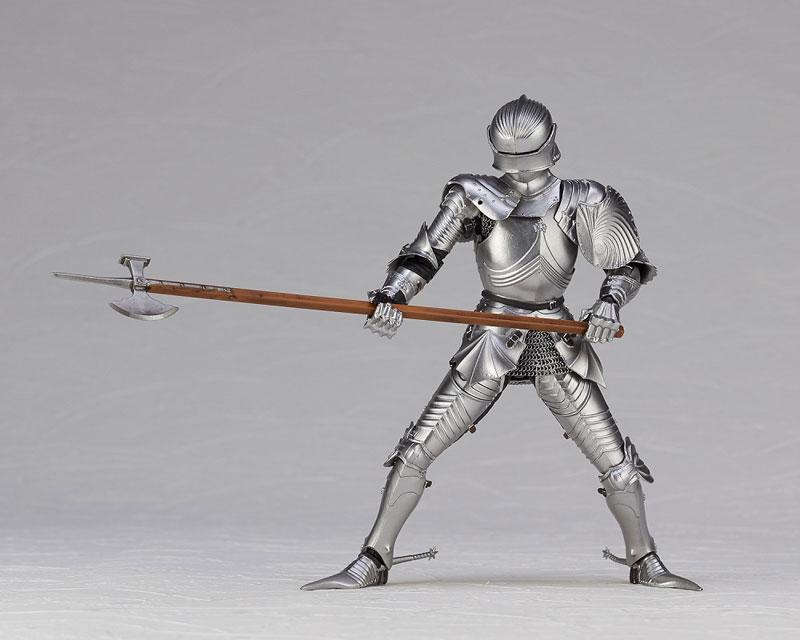 KT Project KT-027 タケヤ式自在置物『15世紀ゴチック式エクエストリアンアーマー シルバー』可動フィギュア-016