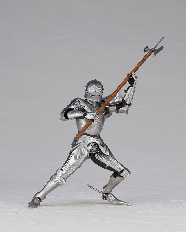 KT Project KT-027 タケヤ式自在置物『15世紀ゴチック式エクエストリアンアーマー シルバー』可動フィギュア-017