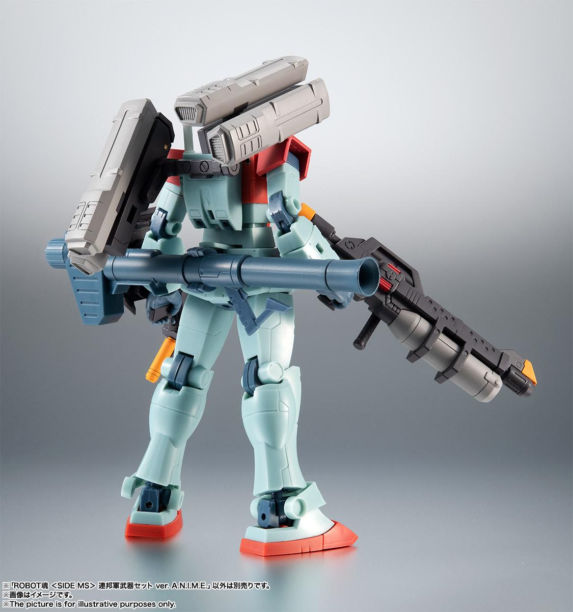 ROBOT魂〈SIDE MS〉『連邦軍武器セット ver. A.N.I.M.E.』ガンダム 完成品フィギュア-004