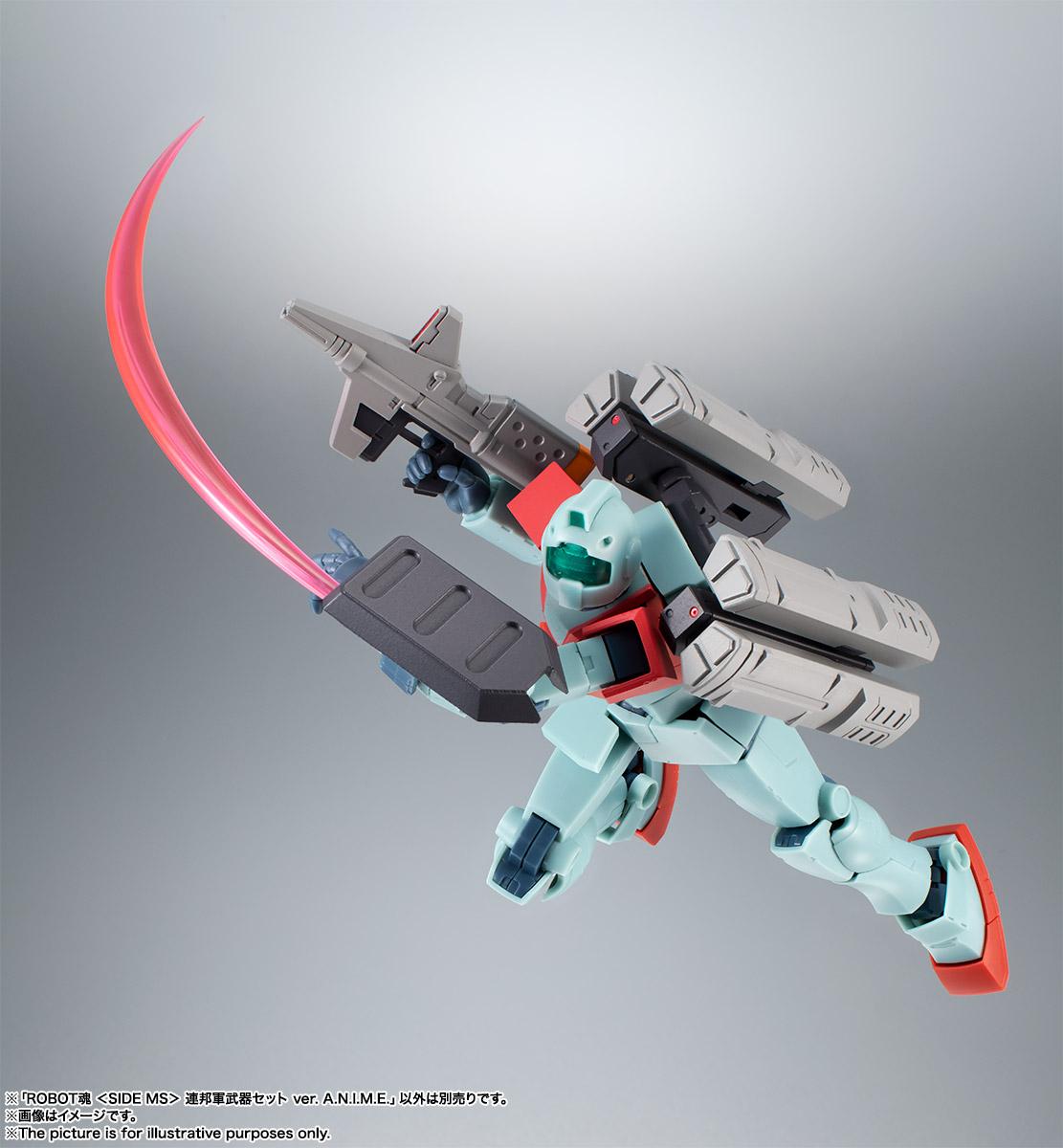 ROBOT魂〈SIDE MS〉『連邦軍武器セット ver. A.N.I.M.E.』ガンダム 完成品フィギュア-006