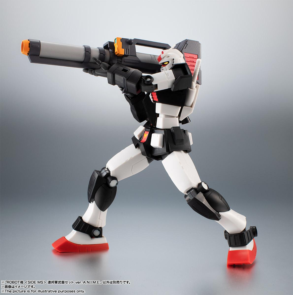 ROBOT魂〈SIDE MS〉『連邦軍武器セット ver. A.N.I.M.E.』ガンダム 完成品フィギュア-008