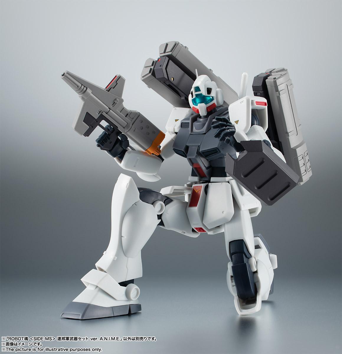 ROBOT魂〈SIDE MS〉『連邦軍武器セット ver. A.N.I.M.E.』ガンダム 完成品フィギュア-012