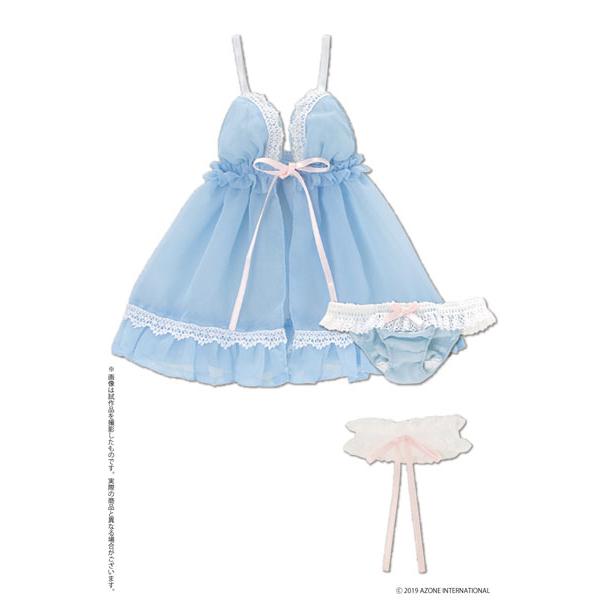 48cm/50cm用 AZO2『ミスティアベビードールセット(ライトブルー)』1/3 ドール服