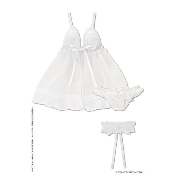 48cm/50cm用 AZO2『ミスティアベビードールセット(ホワイト)』1/3 ドール服
