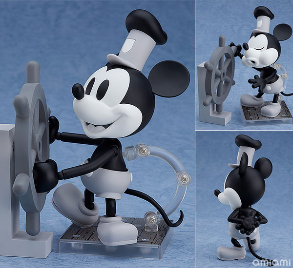 ねんどろいど『蒸気船ウィリー ミッキーマウス 1928 Ver.(シロクロ)』可動フィギュア