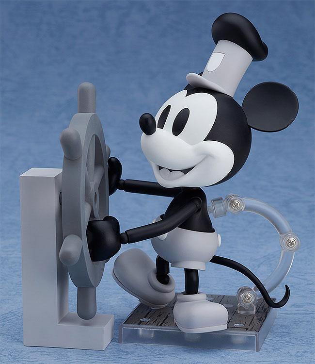 ねんどろいど『蒸気船ウィリー ミッキーマウス 1928 Ver.(シロクロ)』可動フィギュア-001