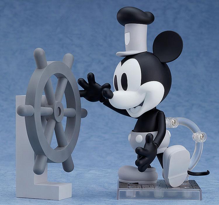 ねんどろいど『蒸気船ウィリー ミッキーマウス 1928 Ver.(シロクロ)』可動フィギュア-002