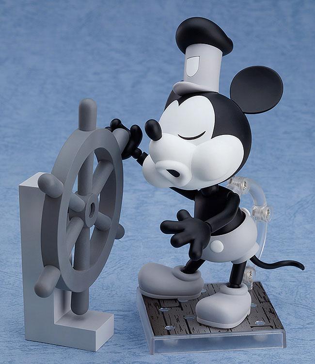 ねんどろいど『蒸気船ウィリー ミッキーマウス 1928 Ver.(シロクロ)』可動フィギュア-003