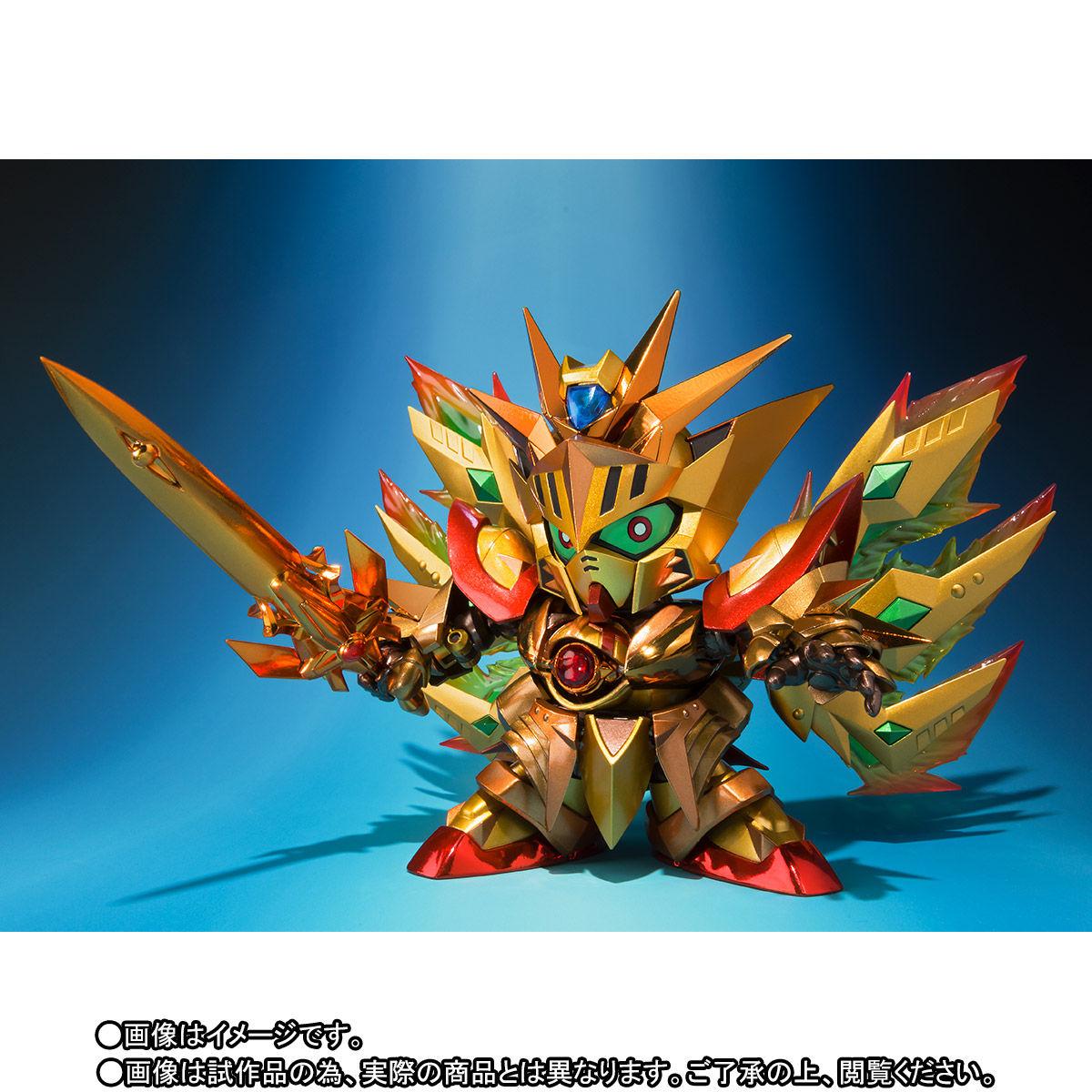 SDX『太陽騎士ゴッドガンダム 明鏡止水ゴールドバージョン』新SDガンダム外伝 可動フィギュア-002