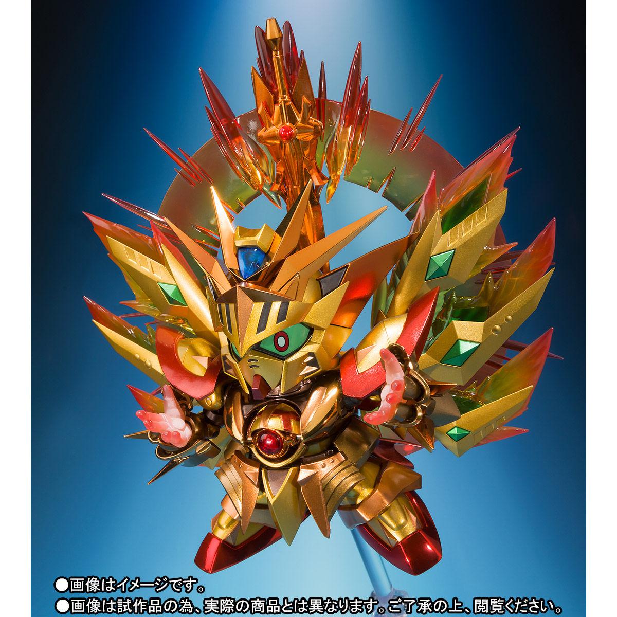 SDX『太陽騎士ゴッドガンダム 明鏡止水ゴールドバージョン』新SDガンダム外伝 可動フィギュア-007