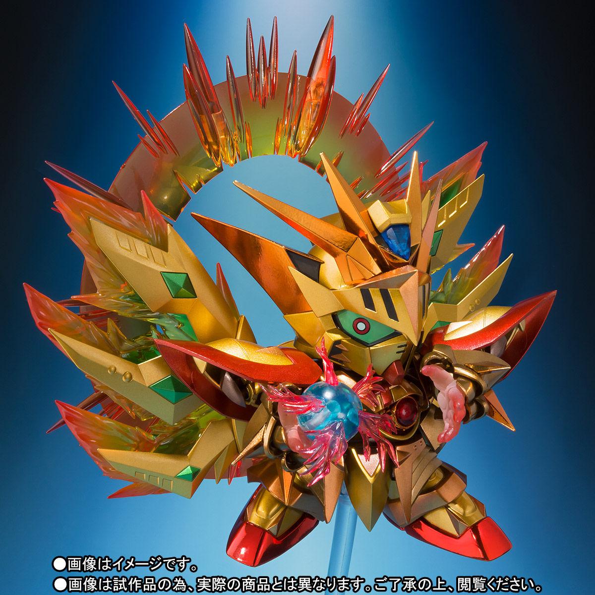 SDX『太陽騎士ゴッドガンダム 明鏡止水ゴールドバージョン』新SDガンダム外伝 可動フィギュア-008