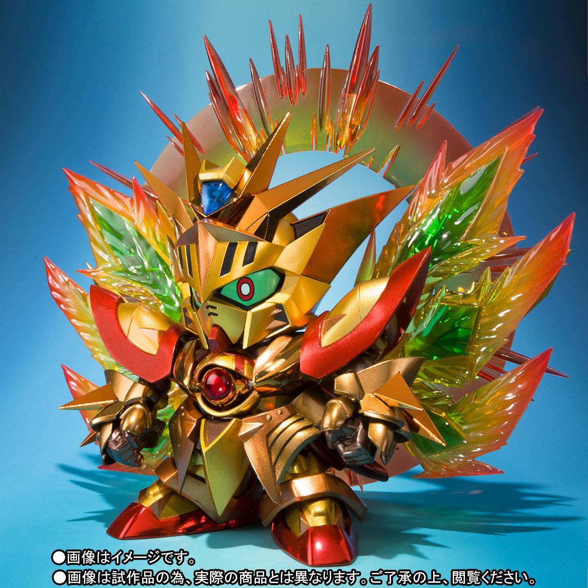 SDX『太陽騎士ゴッドガンダム 明鏡止水ゴールドバージョン』新SDガンダム外伝 可動フィギュア-009