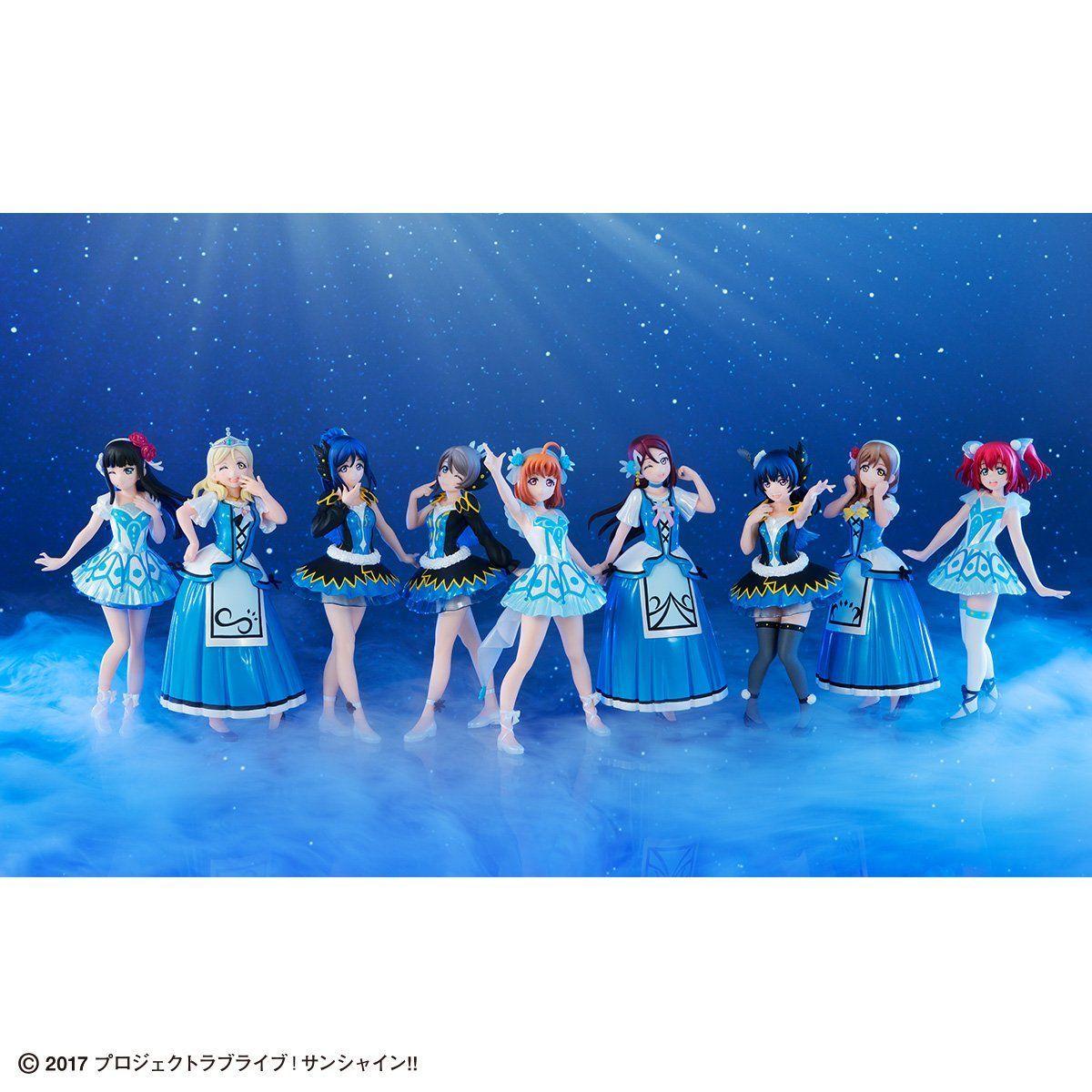 Gasha Portraits『ラブライブ!サンシャイン!! ~WATER BLUE NEW WORLD SET~』セット-001